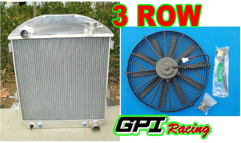 3 Row Aluminum Radiator For 1924-1927 Ford Model-T Bucket Chevy Engine 1925 1926