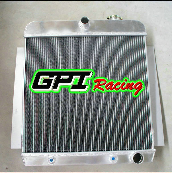 3ROW  Aluminum Radiator for 1955-1959 CHEVY PICKUP TRUCK AT MT 1956 1957 1958