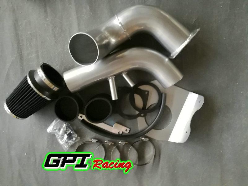 for 1996-2004 ford mustang gt v8 4 6l cold air intake system + black filter  kit