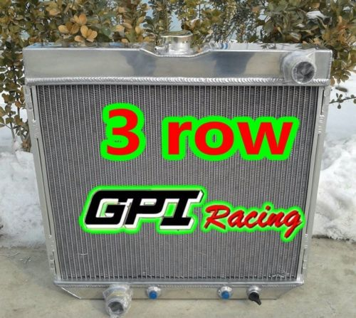 ALUMINUM RACING RADIATOR 69-70 FORD MUSTANG//-77 MAVERICK 4.1L//5.0L l6//V8+FAN