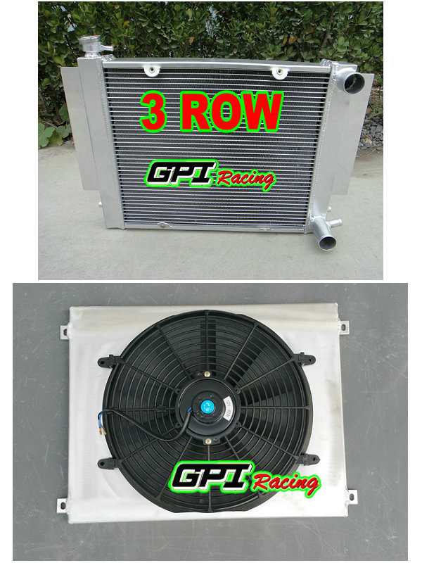 Aluminum radiator shroud fan for Mazda RX2 RX3 RX4 RX5 without heater pipe MT